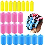 Agreatca 40 Pieces Sponge Curlers for Hair Styling, Foam Sponge Hair Rollers, Flexible Hair Styling Curlers(3 Sizes)