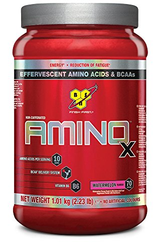 BSN Supplemento Nutrizionale Amino X, 70 Srv, Watermelon Multi-Lingual - 1010 gr
