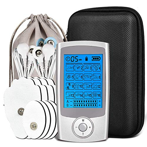 Electroestimulador Digital Muscular, Mini Masajeador Y Estimulador, Tens Ems Electroestimulador, Electrodos Para...