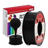 PLA Filament 1,75 mm,Impression 3D Filament PLA Pour Imprimante 3D et Stylo 3D,Précision Dimensionnelle +/- 0,02 mm,1 kg 1 Bobine (Noir)