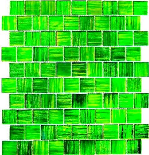 Mosaikfliese Transluzent Glasmosaik Crystal Struktur grün klar gefrostet MOS68-CF43
