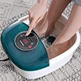 Foot Spa/Bath Massager with Heat, Vibration, Bulbbles, Digital Temperature Control, 16 Masssage Rollers, Soothe and Relax Tired Feet - Best Reviews Guide