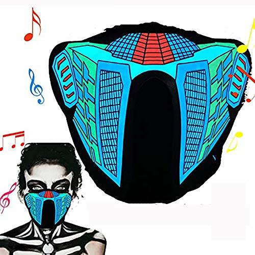 BASOYO Halloween Neon Face C-Over,Spaventoso Macks,...