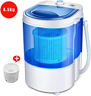 4KG Capacity Mini Washing Machine Compact Counter Top Washer Spin with Drain Basket and Drain Hose Top Open Mechanical Control Dehydrated Kilograms 1KG