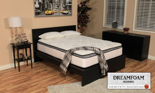 Hot Sale DreamFoam Bedding Ultimate Dreams Pocketed Coil Ultra Plush Pillow Top Mattress, King
