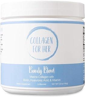 Marine Collagen Beauty Blend - Hydrolyzed Marine Collagen, Hyaluronic Acid, Biotin, Vitamin-C for Hair, Nails, Skin, Joint...