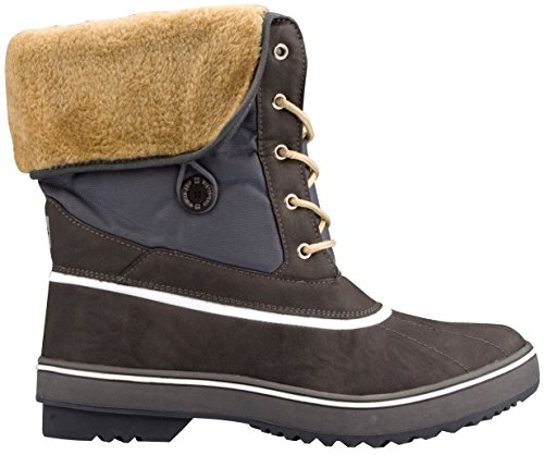 Schreuders Sport Winter-Grip Lumberjack Fourrure Snowboots, Cuir PU, Mixte, 1147-ANG-42, Anthracite/Gris Clair, Taille 52