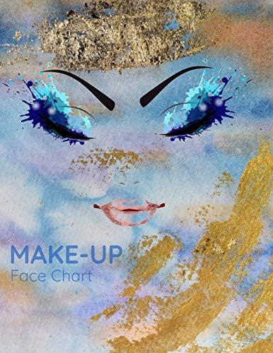 Make-up Face Chart: Make-up Artists Schüler Visagisten Schmink Gesichts-Vorlagen zum Einzeichnen von Trends und Looks