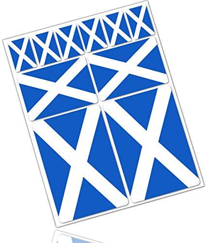 Biomar Labs® 10pcs Pegatina Bandera de Escocia Scotland Flag Vinilo Adhesivo Coches...