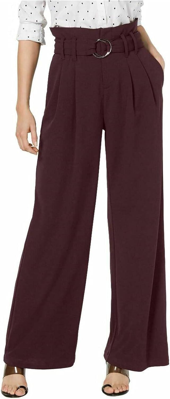 INC Womens Maroon Wide Leg Wear to Work Pants Size 8