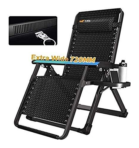 MTCWD Silla de Playa Silla reclinable Cero Gravedad Ajustable Patio Salón Plegable Tumbona de jardín al Aire Libre Inicio