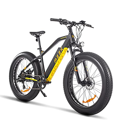 Adults Electric Bike with 750W Motor,Fat Tire Electric Mountain Bicycle Shimano 7-Speed Powerful Snow Beach E-Bike with 48V Lithium Battery