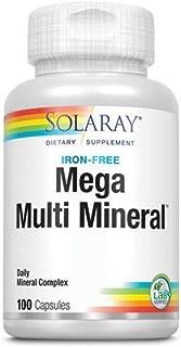 Solaray, Mega Multi Mineral, Iron Free, 100 Capsules