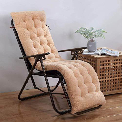 Coussin de salon de chaise de canapé, coussins de chaise inclinable de patio, matelas de chaise longue pour jardin Banc de siège d'auto tatami d'intérieur extérieur (sans chaise) Camel 48x125cm (19x49
