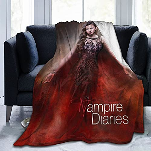 Wteqofy the vampire diaries Blanket Ultra Soft Volleyball Throw Blanket Flannel Fleece Blankets for Bedding Couch Beach Picnic Travel 50' X40