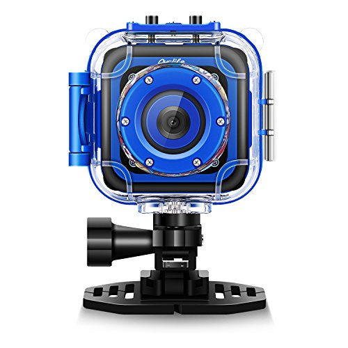 Ourlife Kids Action Children Underwater Camera, 1080P 1.77' LCD Screen with Video Cam Includes 8GB Memory Card for Boys 5,9,10,11,12,Toys Cam for Brithday Christmas (Navy-Blue)