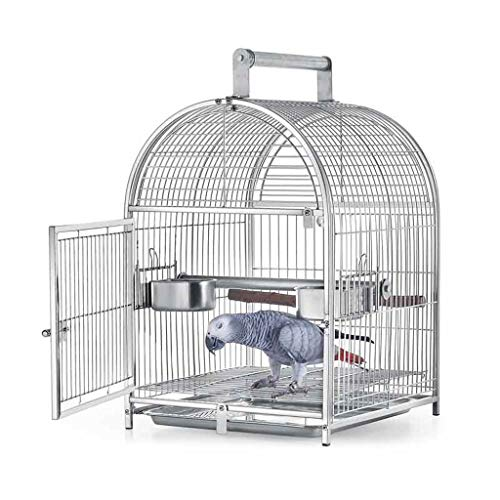 Chenhan Jaula Pájaros Casa de Mascotas Medianas Jaula de pájaros con Soporte Hierro Forjado Pascua Pájaro Jaula Parrot 42x34x54cm Cause de Vuelo portátil Ligero Transpirable