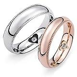 K.L.Y ペアリング 316L リング 指輪 結婚 婚約指輪 ペア リング アクセサリー ジュエリー (個別販売) (レディース 7号)