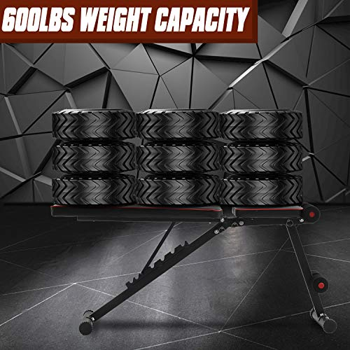 ZFITEI Adjustable Weight Bench, Perfect Workout Bench for Home Gym,Exercise Incline Decline Bench for Full Body Workout,Easy to Assemble and Use, 600lbs Weight Capacity