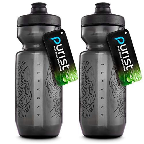 Peakline Sports - Purist 22 oz Bike Water Bottle by Specialized Bikes (Watergate Cap) (Smoke / Black 2-Pack)