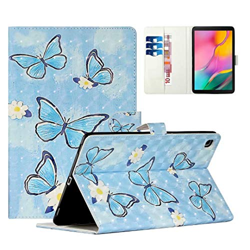 WVYMX Case for Galaxy Tab A 10.1 T510, Cartoon Printed Slim Stand Hard Back Shell Protective Smart Cover for Samsung Galaxy Tab A 10.1 2019 T510/T515 Butterfly