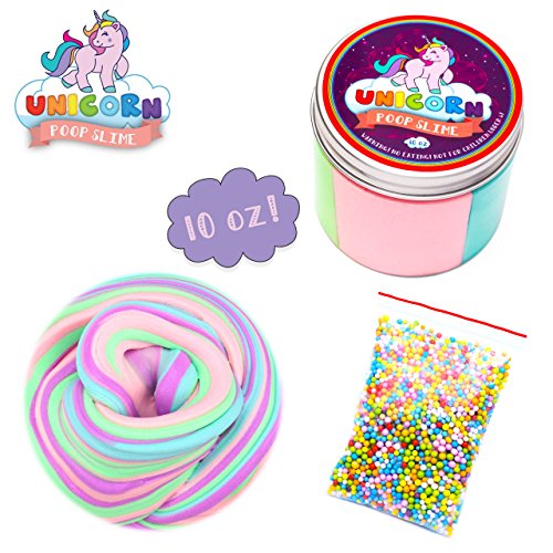 My Playful Kiddos Fluffy Unicorn Poop Slime kit - Unicorn Gifts for Girls - Soft Extra Fluffy Floam Putty Package