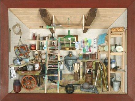 Unbekannt Berufs-Wandbild Miniaturwerkstatt Maler 3D