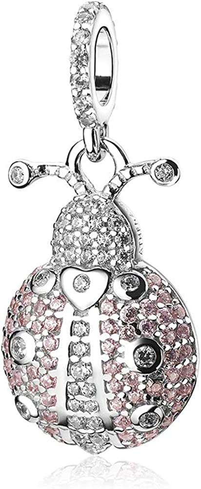 ATHENAIE 925 Sterling Silver Clear Max 59% OFF Dangle Ladybug CZ Charm Lucky 1 year warranty