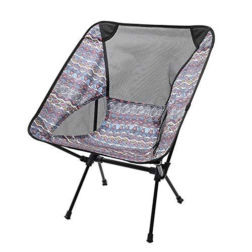 ZHDXW Klappbarer Camp Stuhl Tragbarer Stuhl Angeln Klappstühle Rückenlehne Hocker Picknick Sitz Stuhl Leichter National Style Klapp Camp Stuhl,grau Blau