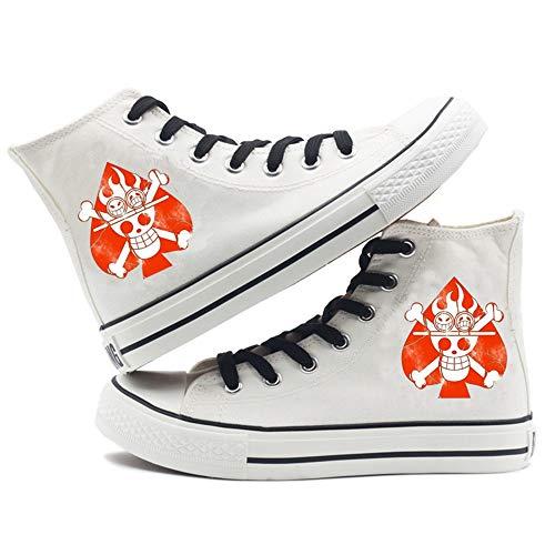 SevenLeo Zapatos Hombre Zapatillas Lona Zapatos Casuales Zapatos Mujer Bambas Zapatos De Niño Niña Adolescente Zapatillas Deporte Mujer Unisex One Piece Luffy Anime Shoes 40