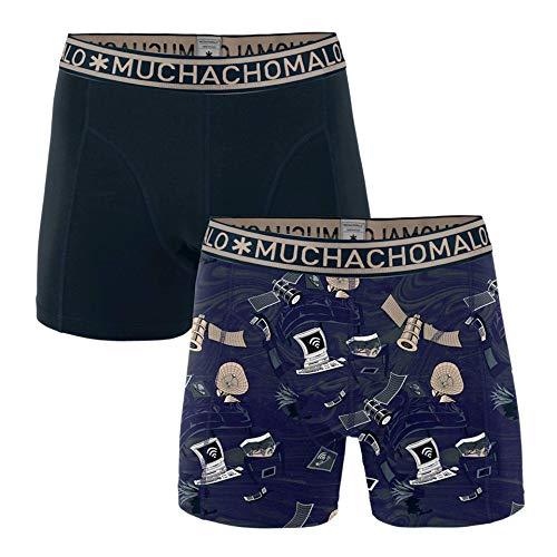 Muchachomalo Boxershorts Herren Atmungsaktiv, Baumwolle, Fitted Underwear - 2Er Pack Multicolor XXL