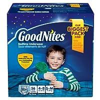 GoodNites Bedtime Underwear - Size Boys, 56 ct. おねしょパンツ Mサイズ 対応 17キロ~29キロ 56枚 男の子用 《並行輸入》
