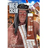 Widmann WDM01153 01153-Make Up Indianer rot, in der Tube, Schminke, Mottoparty, Karneval, Halloween, Unisex– Erwachsene, Taglia unica