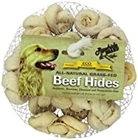 Rawhide Brand 2-Inch Natural Safety-Knot Bones, 12 Per Pack, Mesh/Hdr by Rawhide Brand