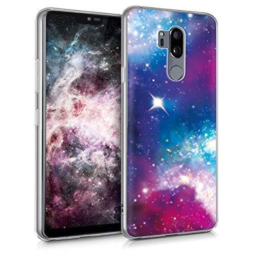 kwmobile Hülle kompatibel mit LG G7 ThinQ/Fit/One - Handyhülle - Handy Hülle Space Mehrfarbig Pink Schwarz