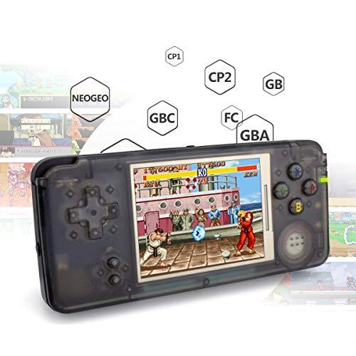 """LJ2 Consola de Juegos portátil, Consola de Juegos portátil Procesador de Doble núcleo de 3""""con 3000 Juegos clásicos Consola de Juegos Retro/para NEOGEO/GBC/FC / CP1 / CP2 / GB/GBA"""