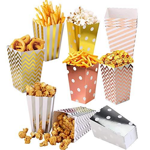 Cajas de Palomitas de maíz/Envases de Caramelos de Cartón/Alimenticio Contenedor Snack Party Bags Pequeña/Se utiliza para bocadillos dulces cajas de regalo(36 Piezas)