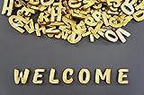 250+ Holz kleine Buchstaben (2cm) Alphabet Dekoration Selbstklebend (NF31)