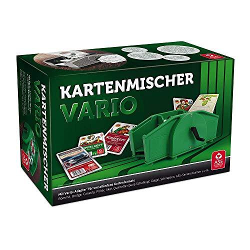 ASS Altenburger 22574033 - Kartenmischer Vario mit Handkurbel, für unterschiedliche Kartenformate geeignet, im Faltkarton, Grün, Breite: 24,30 cm Höhe: 15,70 cm Länge: 10,60 cm