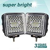 CO LIGHT 4.3'' inch LED Work Lights 86W 6000K Spot Beam LED Light Pod Fog Driving Light Bar for SUV 4WD 4X4 UTE ATV Pickup Truck Jeep Off Road Boat