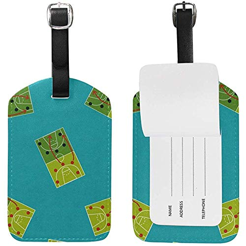 Basketball Strategy Board Flat Icon Gepäckanhänger Travel ID Bag Tag für Koffer 2 Stück