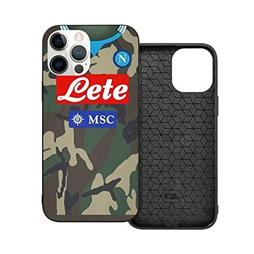 Jinfugongmao Compatibile con iPhone 12/11 PRO Max 12 Mini SE X/XS Max XR 8 7 6 6s Plus Custodie Story Season Naples Camouflage 14 Napoli Camo SSC 2013 Nero Custodie per Telefoni Cover