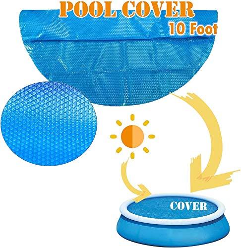 Hanneng Family Pool Cover, Poolabdeckplane Aufblasbares, Schwimmbadabdeckung Abdeckungen Für Easy Set Pool (Ø 240cm, Runden)