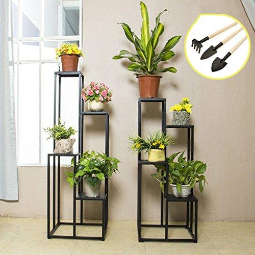Support de fleur de fer Combinaison multi-couche de supports de fleurs, présentoir en pot d'art de fer, support de pot de fleur d'intérieur de balcon (taille : 80cm)