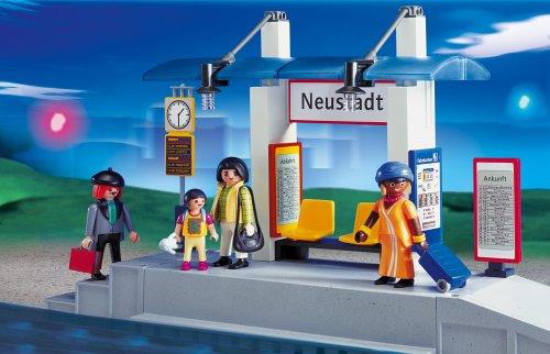 PLAYMOBIL® 4304 - Bahnsteig mit Fahrgastunterstand