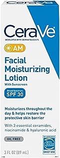 CeraVe Moisturizing Facial Lotion AM, SPF 30, 3 Ounce