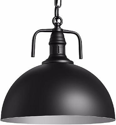 HQLCX Lámpara de Techo Loft Iluminacion Industrial Black Chandelier Oficina Olla Caliente Tienda Supermercado Bar Lámpara De Minero Industrial 300Mm: Amazon.es: Iluminación