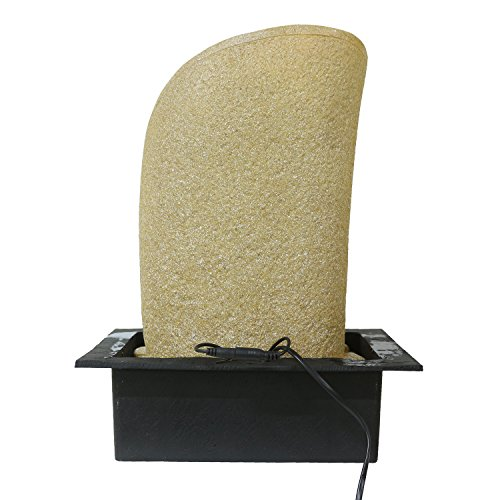 Chronikle Designer Polystone 4 Steps Indoor Table Top Water Fountain with LED Lights and Water Pump(Beige, 41cm X 30cm X 31cm)