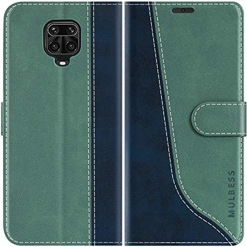 Mulbess Funda para Redmi Note 9 Pro, Funda con Tapa Xiaomi Redmi Note 9s, Funda Xiaomi Redmi Note 9 Pro Libro, Funda Cartera para Xiaomi Redmi Note 9 Pro Carcasa, Verde Mint