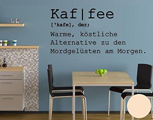 Klebefieber Wandtattoo Kaf I Fee B x H: 180cm x 86cm Farbe: Creme